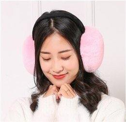pink earmuffs UK - Fashion new winter warm plush earmuffs unisex cold and cold after wearing earmuffs