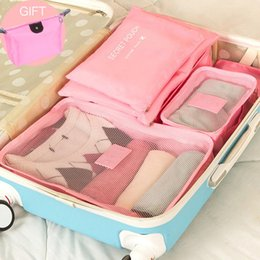 Discount packs bras - 7PCS 1Set Travel Storage Bag Waterproof Storage Clothes Underwear Bra Packing Cube Luggage Organizer Closet Container