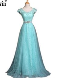 $enCountryForm.capitalKeyWord Australia - 2018 New Fashion Blue Lace Evening Dress Bridal Banquet Party Elegant Long Prom Dresses Plus Size Mother Of The Bride Dresses