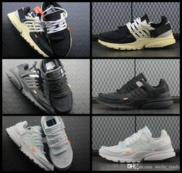 new product 842c4 e26a5 2018 New Fashion Presto Running Shoes para hombres, negro blanco Brand  Designer Sneakers para hombre Prestos Trainers off Zapatos Hombre Air  Sports Shoes