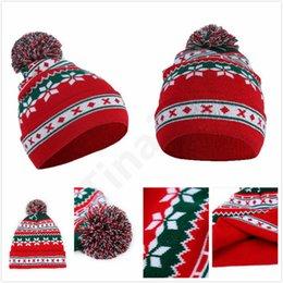 Men's Skullies & Beanies 2018 Winter Lovely Christmas Hat Led Caps Santa Claus Snowflake Xmas Tree Soft Warm Knitted Cap For Kids Gift Men's Hats