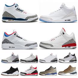 cheap flights shoes 2019 - Cheap Black White Cement 3 3s Men Basketball Shoes International Flight Katrina Tinker Seoul Free Throw Line Sports Snea