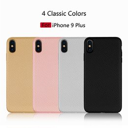 Discount iphone elegant - Simple and elegant iPhone case for iPhone Xs Max XR X carbon fiber twill case for iPhone 6 7 8plusTPU case