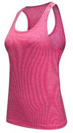 Großhandels-Fachmann Eignung-Trägershirt-reizvolle Frauen-Sport-T-Shirt Trainings-Weste-Übungskleidung, die rüttelnde Gymnastik 4 Farben Größe S-L läuft