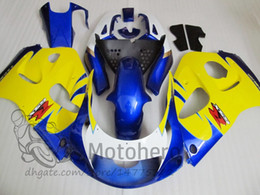 srad fairing yellow NZ - Fairing kit FOR SUZUKI Srad GSXR 600 750 1996 1997 1998 1999 2000 GSXR600 GSXR750 96 97 98 99 00 ABS Fairings yellow blue white black +gifts