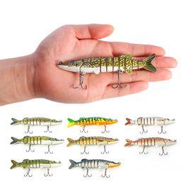 $enCountryForm.capitalKeyWord Australia - 1piece 9-segement Swimbait Crankbait lures Multi-jointed Pike Muskie Fishing Lure with Treble Hook Artificial Bait Tackle 12.5cm 20g