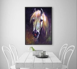 Horse wall paint modern online shopping - Modern Abstract Animal Hand painted Oil painting Horse On Canvas Home Decor Wall Art Multi sizes Frame Option a138