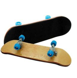Maple Fingerboard UK - Professional Maple Wood Finger Skateboard Alloy Stent Bearing Wheel Fingerboard Adult Novelty Toy Cheapest!