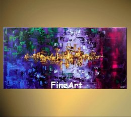 $enCountryForm.capitalKeyWord Australia - Discount 100% handmade large canvas wall art abstract oil painting on canvas bright color High quality