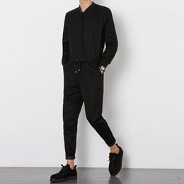 Großhandel Männer Slim Fit Casual Jumpsuit Mode Langarm Overalls Hose Männlich Elegante Pluderhosen Lange Hosen Street Hip-Hop Overall