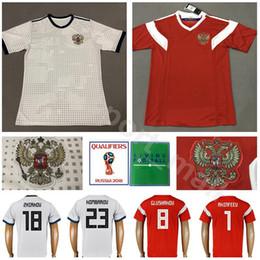 31fd1f01f 2018 World Cup Russia Soccer Jersey Russian Football Shirt Kits Men 19  Samedov 22 Dzyuba 1 Akinfeev 4 Ignashevich 15 Miranchuk 10 ARSHAVIN