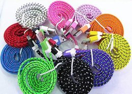 Usb noodle wire online shopping - 10FT ft FT Noodle Flat Braid Charging Cord Sync Fabric TYPE C Micro Wire USB Data Cable Line Samsung S8 S7 HUAWEI hot sale