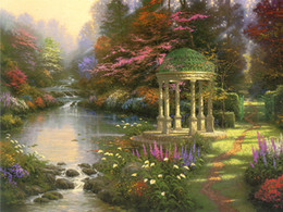 thomas kinkade prints Australia - Unframed or Framed Thomas Kinkade Landscape Oil Painting Reproduction High Quality Picture Printed On Canvas Modern Home Art Decor HT242
