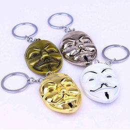 $enCountryForm.capitalKeyWord NZ - 4 colors Movie V for Vendetta keychain ANONYMOUS GUY Mask Metal KeyRing Key Chain Ring Fob for fans