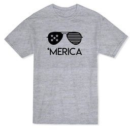 Urban Clothes For Men Australia - Urban 'Merica Glasses Graphic Men's T-shirt Loose Clothes T Shirt Discount 100 % Cotton T Shirt for Men'S
