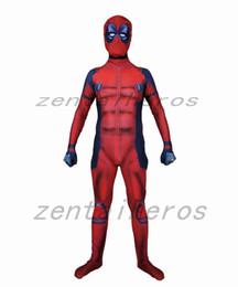 $enCountryForm.capitalKeyWord Australia - 3D printing muscles Deadpool costume Cosplay Superhero Costume Lycra Zentai Bodysuit Halloween Party suit