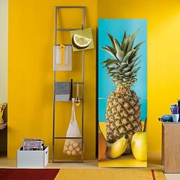 kitchen door stickers NZ - Personalized 3D Effect pineapple Fruit vegetable Pattern Fridge Sticker PVC Refrigerator Door Kitchen Self-adhesive Vinyl Decal Decoration
