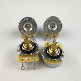 $enCountryForm.capitalKeyWord NZ - 1 Piece CTS 250K Brass Short Bushing Split Shaft Big Audio Potentiometer(POT) For Electric Guitar Bass