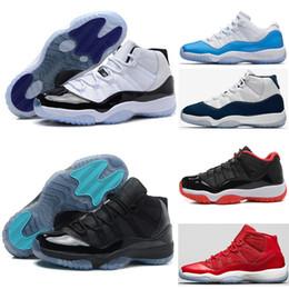 low priced 56fa9 37912 2018 Männer Basketballschuhe 11 Gym Red Chicago Midnight Navy weiß Olympic  Concord Gamma Blau Varsity Rot Navy Gum Sport Sneaker US 13