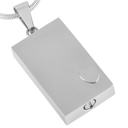 blank jewelry tags NZ - IJD2477 Engravable Blank Dog Tag Stainless Steel Cremation Keepsake Necklace for Ashes Urn Memorial Souvenir Pendant Jewelry
