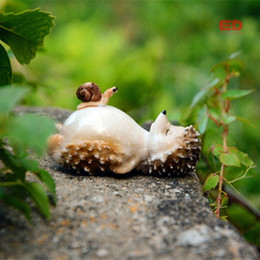 fairy garden ornaments 2019 - Collection Lovely Fairy Garden Miniatures Resin Hedgehog Figurine For Adults Child Office Decoration Desk Ornament New d