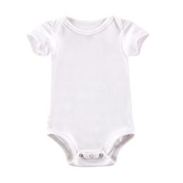 White Baby Bodysuit Boy Girl Clothes Blank Unisex Newborn Baby Clothes  Short Sleeve Summer Clothing Set 6b1a452f0b71