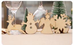 $enCountryForm.capitalKeyWord Canada - 10pcs Wooden Round Baubles Tags Christmas Balls Snowflake Bat Xmas Tree Socks Snowman Shape Decorations Art Craft Ornaments DIY Xmas Decors
