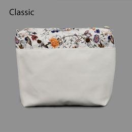 $enCountryForm.capitalKeyWord Canada - New flower PU leather Inner Zipper Pocket lining waterproof insert for big classic Obag EVA AMbag O lady women handbag