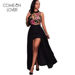 $enCountryForm.capitalKeyWord Australia - Comeonlover Fashion floral printed elegant playsuit women slim body lace sleeveless summer romper casual beach jumpsuits RE80415