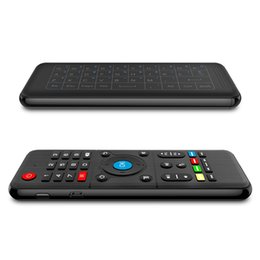 windows control box 2019 - H1 2.4GHz Wireless IR learning fly air mouse Full Touchpad Keyboard tv Remote Control not backlit For Windows PC Android