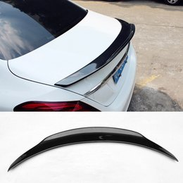 $enCountryForm.capitalKeyWord Australia - Car Styling Carbon Fiber Glossy Auto Trunk Rear Spoiler Wings Lip For Benz C-class W205 Spoiler C200 C250 C300 4-Door 2015-2017