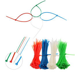 Venta al por mayor 100/150/200/300 mm Nylon Cable Ties Autoblocante Zip Tie Industrial Wire Fastener - Negro / Azul / Amarillo / Verde / Rojo / Blanco Color elige en venta