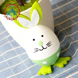 Easter eggs gifts online easter eggs gifts for sale easter egg bunny shape easter eggs 3pcs set painted plastic eggs home decoration funny toys gift for kids negle Images