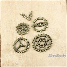 $enCountryForm.capitalKeyWord Australia - mix 150pcs Vintage Charms gear and clock hands Antique bronze Zinc Alloy Fit Bracelet Necklace DIY Metal Jewelry Findings 10007