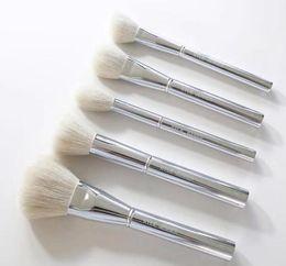 Discount kylie jenner makeup for Kylie Jenner Silver Tube Brush 16pcs set Makeup Brushe Jenner Silver Tube Brush 16pcs set with bag Makeup Brushes for Va