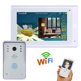 remote video cameras 2019 - Wired  Wireless Wifi IP Video Door Phone Doorbell Kit Video Intercom System HD 720P Camera 7 inch with APP Remote contro