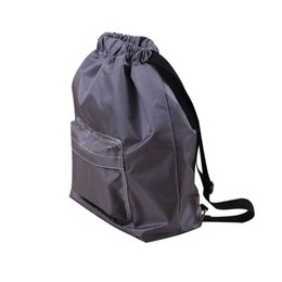 Discount wholesale waterproof drawstring swim bag - 2018 Unisex Backpack string  bag Swimming Swim Pool handbag 9a37b5840c