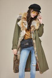 $enCountryForm.capitalKeyWord NZ - Army green Liner Detachable fox fur trim women down jackets Over the knee ladies down parkas
