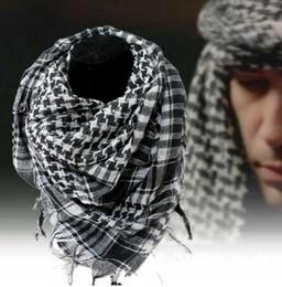 12b8e9c08cf 100% Coton Musulman Hijab Arabe Foulards Épais Shemagh Tactique Désert  Écharpe Hommes Femmes châle Venteux Militaire Écharpe Coupe-Vent