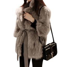 be203716c43 Thick Warm Womens Luxury Mink Coats Fluffy Faux Fur Jacket Fake Rabbit Fur  Coat Manteau Fourrure Femme Plus Size 2018 Winter C18111501