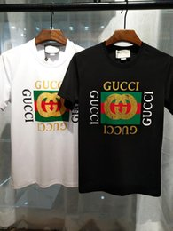 T-shirt uomo Hip Hop gg nuova di zecca manica corta 100% cotone poloshirt camicia uomo teel hip 3g designer mens t-shirt in Offerta