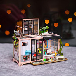 Discount diy kids furniture - Gifts New DIY Doll Houses Wooden Doll House Unisex dollhouse Kids Toy Furniture Miniature crafts