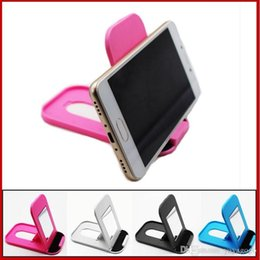 pink hangers NZ - Gift Hot sell Convenient Mobile Foldable Designed Cell Phone Holder Charger Hanger Rack e416 with mirror
