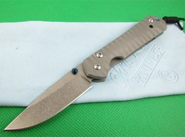 Chris reeve knife d2 online shopping - Chris Reeve Small CR inch ripple titanium handle EDC knife folding Camping Hunting Pocket Knife Xmas gift knife freeshipping