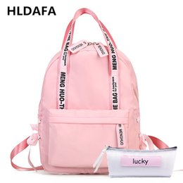 gifts for teenagers girls 2019 - HLDAFA 2018 Fashion Large Capacity Backpack Women School Bags For Teenagers Female Nylon Travel Bags Girls Preppy Gift M