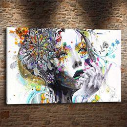 $enCountryForm.capitalKeyWord NZ - Flower Girl Abstract ,1Pcs Canvas Prints Wall Art Oil Painting Home Decor (Unframed Framed)