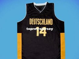 Discount germany jersey black - Cheap Mens DIRK NOWITZKI TEAM DEUTSCHLAND JERSEY GERMANY NEW ANY SIZE XS - 5XL Retro Basketball Jerseys