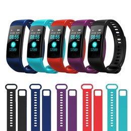 Venta al por mayor de NUEVA Y5 Banda Inteligente de Color de Pantalla Pulsera Inteligente Actividad de Ritmo Cardíaco Rastreador de Fitness Smartband Electrónica Pulsera para iOS / Android