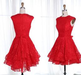 $enCountryForm.capitalKeyWord Australia - Classic Short Red Lace Prom Dresses 2018 Jewel Mini Sash Homecoming Dress Evening Party Gowns Vestidos De Fiesta Cocktail Wear