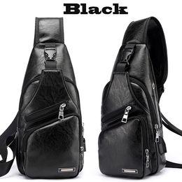 $enCountryForm.capitalKeyWord Canada - New Fashion Bag Men Chest Pack Single Shoulder Strap Backpack Leather Travel Bag Men Crossbody Bags Fashion Rucksack Chest Bag